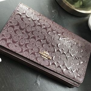 Coach Bags - Purple shimmer new coach wallet
